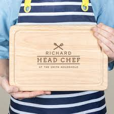 personalised family chef chopping board for him gifts for him