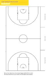 Half Court Basketball Birds Eye View Clip Art Full Template