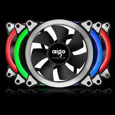 computer case fan led. aigo rgb case cooling fan 120mm 6pin silent with led ring adjustable color radiator computer led n