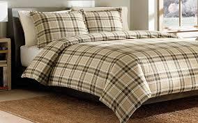 ed bauer edgewood plaid cotton flannel duvet cover set