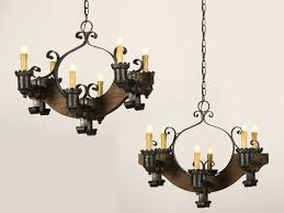 pottery barn alyssa chandelier antique and vintage pair old wood chandeliers with black cast iron candle holder hanging chains ideas crystal magnets for