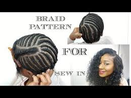 Braid Pattern For Sew In Weave With Side Part