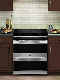 Sears Kitchen Furniture Kenmore Elite 41113 30 Double Oven Slide In Electric Range W