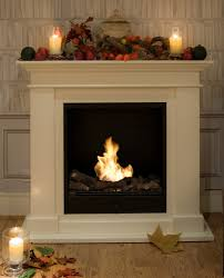 traditional looking fireplace with no fixtures can be easily moved around