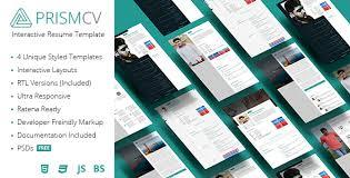 Interactive Resume Template Mesmerizing PrismCV Stylish Interactive Resume CV Template By UmairRazzaq