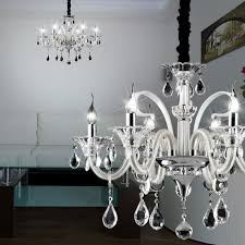 crystal chandelier light Ø660mm antique white glass lamp hand blown