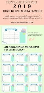 free school planner printables free planner printables 2019