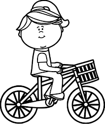 Small Picture Girl Riding Bicycle With Basket Coloring Page Wecoloringpage