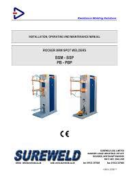 Resistance Welding Transformer Design Manual For Sureweld Welder Dyson Centre For Engineering