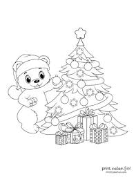 Christmas coloring page ~ this is a lovely christmas coloring page printable for you kids to enjoy! Top 100 Christmas Tree Coloring Pages The Ultimate Free Printable Collection Print Color Fun