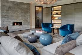 blue velvet armchair living room contemporary with blue velvet armchair built image by staffan tollgard design group
