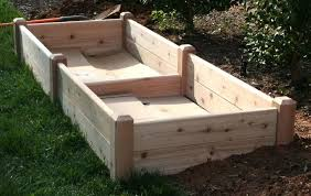 Small Picture Unique Cedar Raised Garden Beds Bed And Attached Cold Frame With
