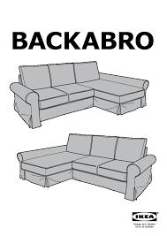 backabro mattarp sofa bed with chaise