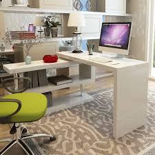 white computer desk. Siena White High Gloss Rotating Computer Desk P