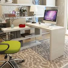 office desk computer. Siena White High Gloss Rotating Computer Desk Office