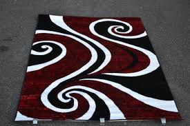 red black and white area rugs contemporary abstract black white and maroon original area rug with charming black and white area
