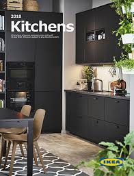 This is the cover of the Kitchen brochure featuring a kitchen with  KUNGSBACKA anthracite front panels