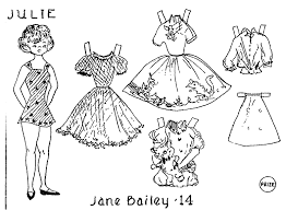 Small Picture Mostly Paper Dolls Aunt Elsie Paper Doll Coloring Contest 1960