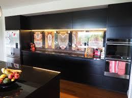 Designer Kitchen Splashbacks Van Der Touw Design Kitchen Splashback Bodhi Leaves