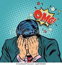 恥, omg, ビジネスマン. 漫画, ベクトル, 恥, 俗悪な作品, omg, 図画, 漫画, ポンとはじけなさい, businessman.,  レトロ, イラスト, 芸術.   CanStock