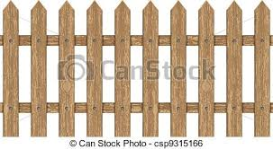 Vector illustration of wooden fence clip art vector Search