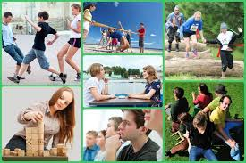 Teen group outdoor activities