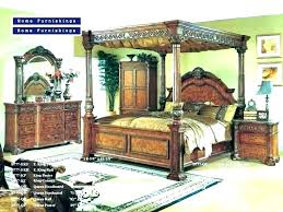 Cherry Wood 4 Poster Queen Bed Frame Cheap Canopy Beds King Bedrooms ...