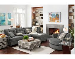 Value City Living Room Furniture The Cordelle Sectional Collection Gray Value City Furniture