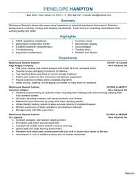 Warehouse Resume General Warehouse Worker Resume Manufacturing Resume Sample 64