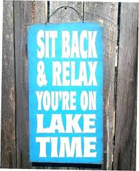 lake signs wall decor simple house rustic sign