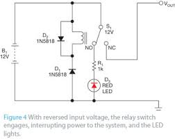 simple reverse polarity protection circuit has no voltage drop edn simple reverse polarity protection circuit has no voltage drop figure 4