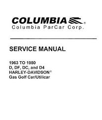 harley davidson gas electric golf cart service repair manual parts 5 of 12 harley davidson gas electric golf cart service repair manual parts 63 03 on 4g