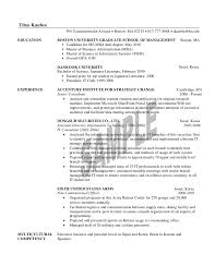 Resume Objective For Mba