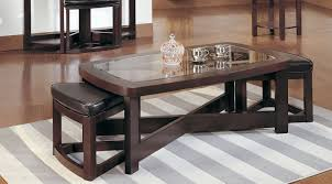 glass coffee table with chairs underneath. wooden coffee table with storage stools glass chairs underneath r