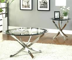 glass coffee table set co contemporary inside and end tables round