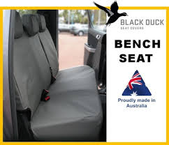 black duck canvas rear seat covers for toyota hilux 07 15 dual cab workmate
