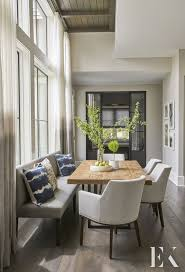 Ekd Design Unique Seating Options In A Neutral Dining Room Dining