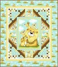 on The Prowl Toni Whitney Quilt Pattern & Fabric Kit Female Lion ... & Susybee LYON the LION Quilt Fabric Kit + Pattern 42