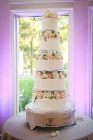 5 tier fresh flowers cake