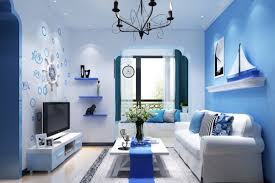 blue and white furniture. Wonderful White Furniture In Pleasurable Nautical Living Room Theme With Superb Blue Color And D