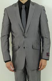 Suit Pattern Stunning Men's Two Button Charcoal Slim Fit Suit Nail Head Pattern Men's