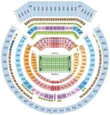 Oakland Coliseum Interactive Seating Chart Oakland Raiders Vs Detroit Lions Tickets Sun Nov 3 2019 1
