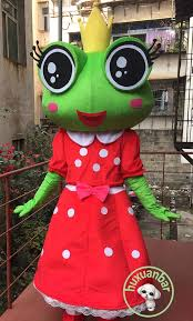 <b>Frog</b> Princess <b>Cartoon</b> Mascot <b>Costume</b> Suit <b>Cosplay</b> Party Fancy ...