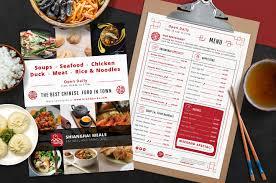 Restaurant Menu Template Chinese Restaurant Menu Template Psd Ai Vector Brandpacks