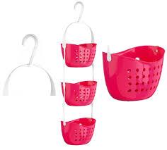 3 tier shower caddy bath rack plastic hanging over basket unit shower organiser