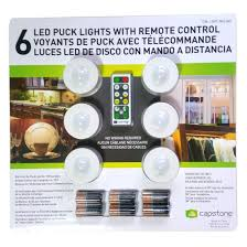 capstone 6 led wireless puck lights with remote control white com
