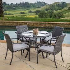 lakeside piece wicker patio dining set deck designs diy decks lakeside outdoor furniture villas fountain