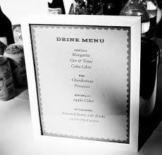 wedding drink menu. DIY Wedding Template Hacks Seating List to Drink List empapers