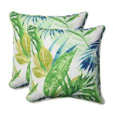 blue and green throw pillows. Outdoor Soleil Blue/Green 18.5-inch Throw Pillow, Set Of 2 Blue And Green Pillows