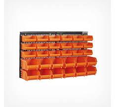 30pc wall mounted storage bin organiser